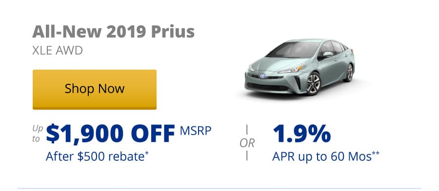 All-New 2019 Prius XLE AWD