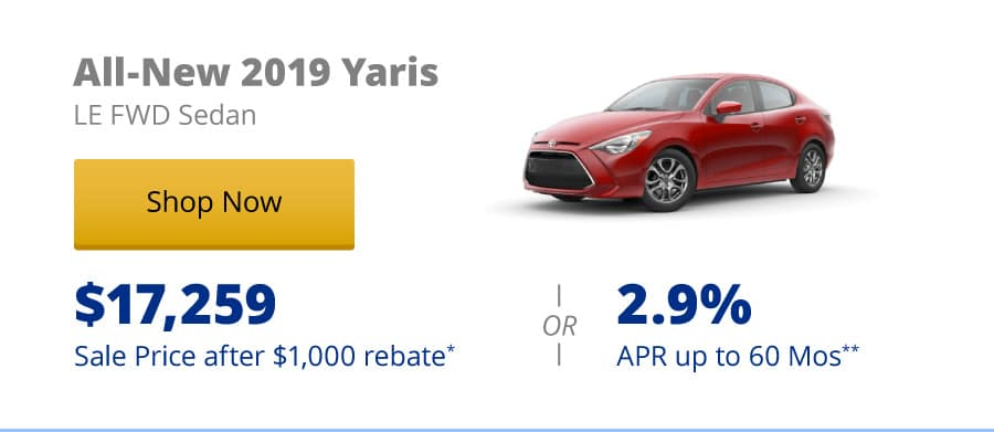 All-New 2019 Yaris LE FWD