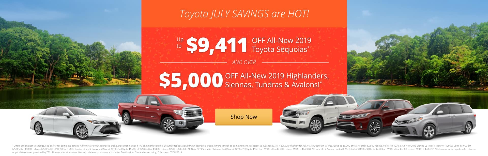 Toyota July Savings are HOT!