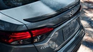 2020 Toyota Corolla XSE Rear Spoiler Tail Light