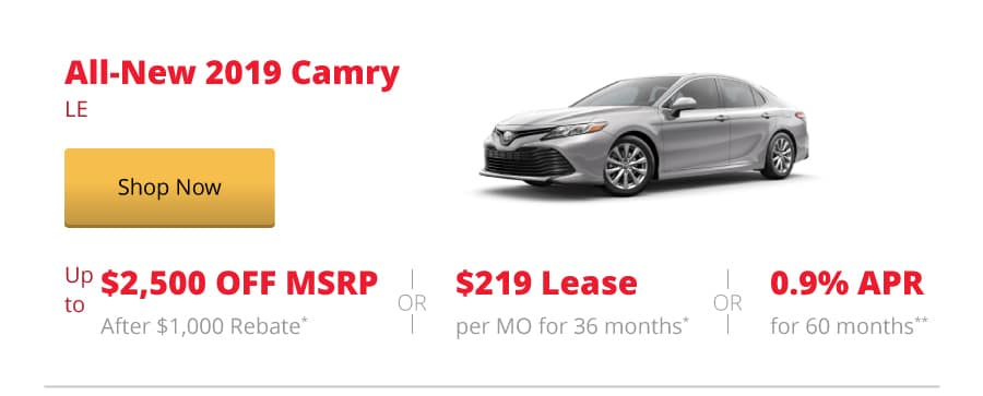 All-New 2019 Camry LE