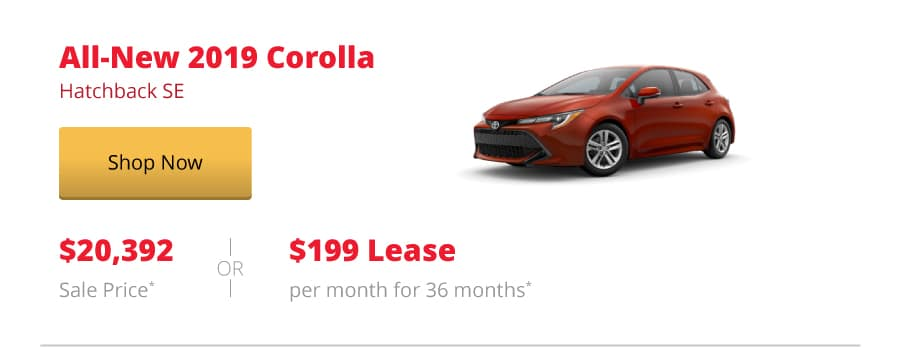 All-New 2019 Corolla Hatchback SE