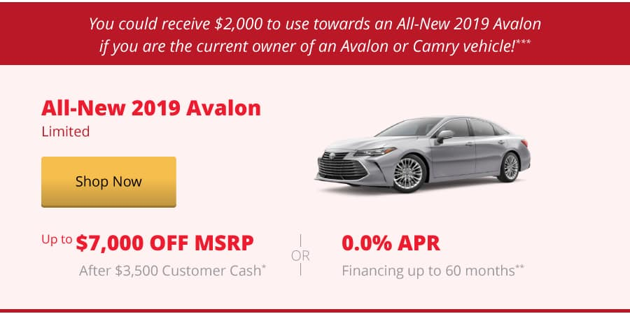 All-New 2019 Avalon Limited