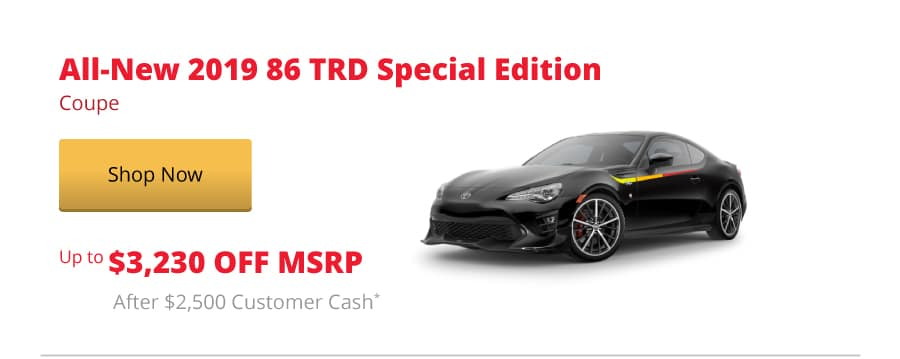 All-New 2019 86 TRD Special Edition Coupe