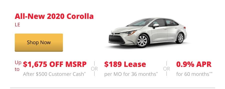 All-New 2020 Corolla LE
