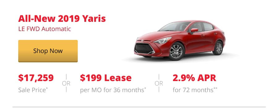 All-New 2019 Yaris LE FWD Automatic