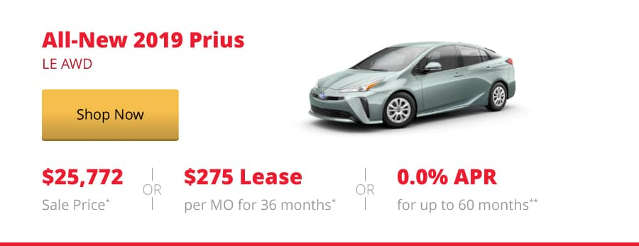All-New 2019 Prius LE AWD