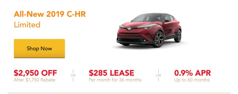 All-New 2019 C-HR Limited special offers