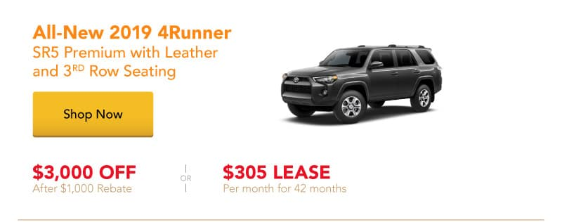 All-New 2019 4Runner SR5 Premium special offers