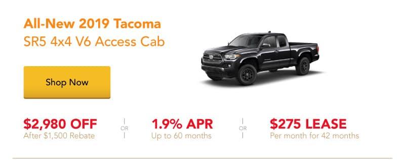 All-New 2019 Tacoma SR5 4x4 V6 Access Cab