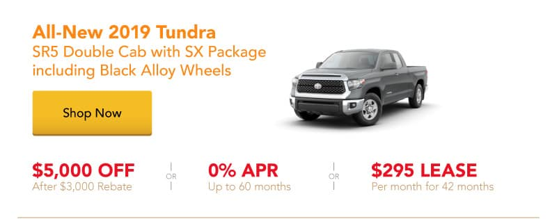 All-New 2019 Tundra SR5 Double Cab special offers