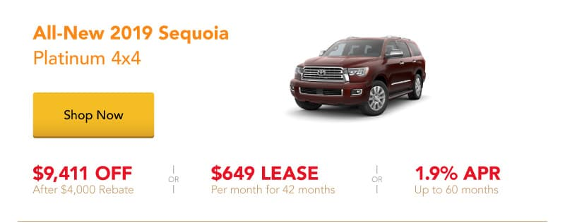 All-New 2019 Sequoia Platinum 4x4 special offers