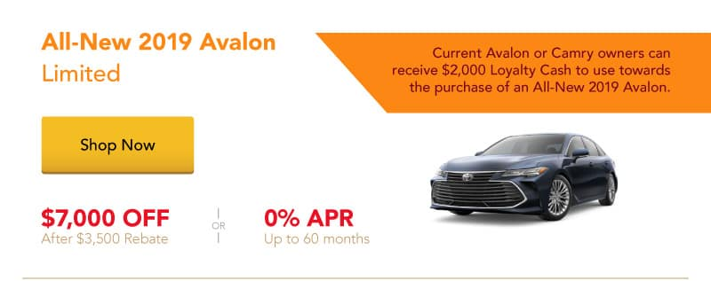 All-New 2019 Avalon Limited special offers