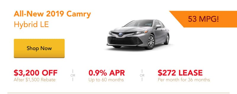 All-New Camry Hybrid LE special offers