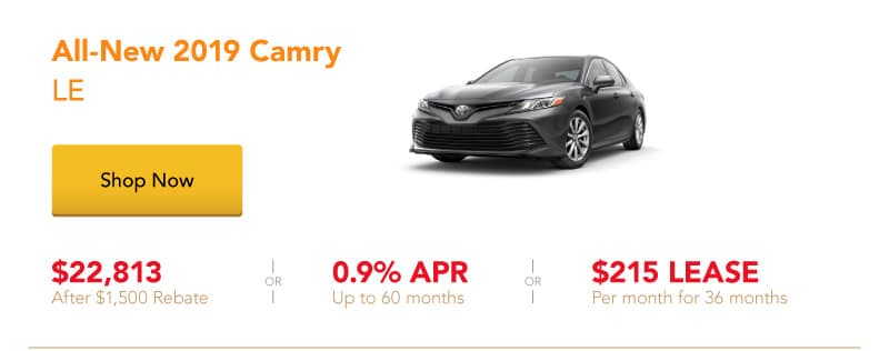 All-New 2019 Camry LE special offers
