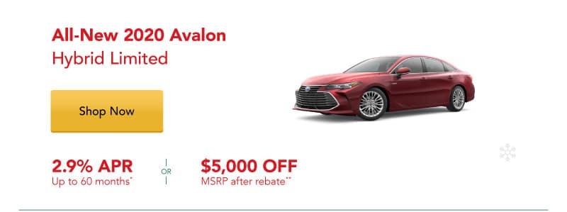 All-New 2020 Avalon Hybrid Limited