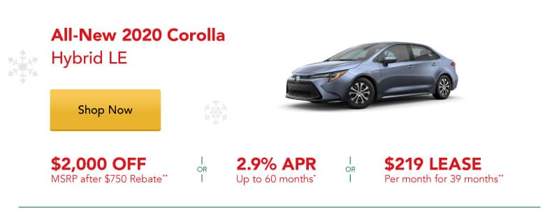 All-New 2020 Corolla Hybrid LE