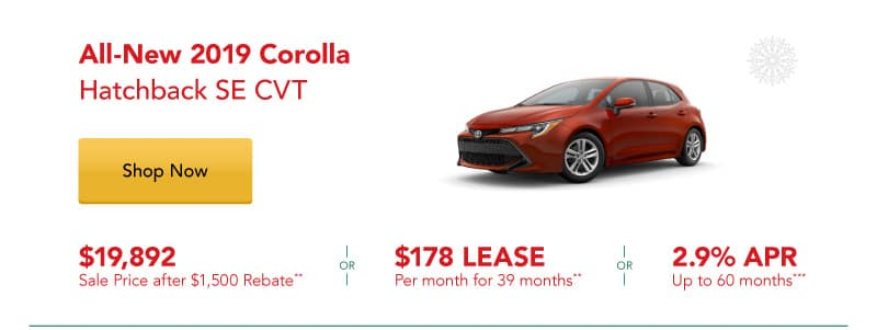 All-New 2019 Corolla Hatchback SE CVT