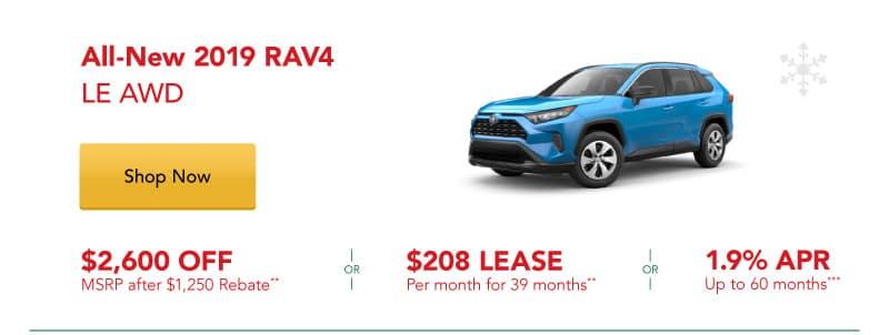 All-New 2019 RAV4 LE AWD