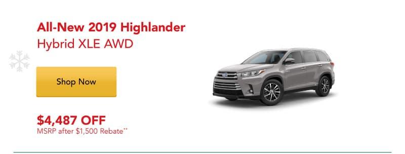 All-New 2019 Highlander Hybrid XLE AWD