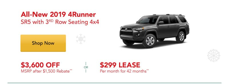 All-New 2019 4Runner SR5 with 3rd Row Seating