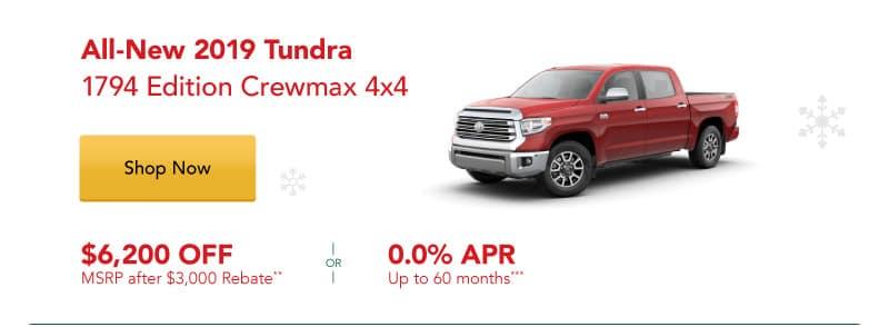 All-New 2019 Tundra 1794 Edition Crewmax 4x4