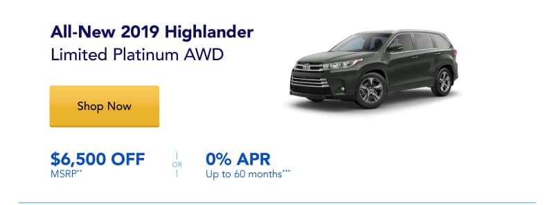 All-New 2019 Highlander Limited Platinum AWD