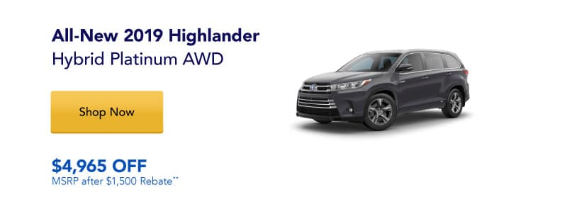All-New 2019 Highlander Hybrid Platinum