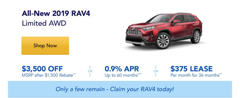 All-New 2019 RAV4 Limited AWD