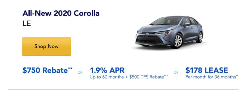 All-New 2020 Corolla LE