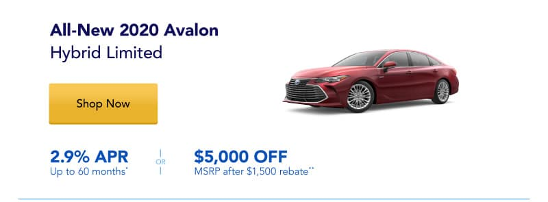 All-New 2020 Avalon Hybrid Limited