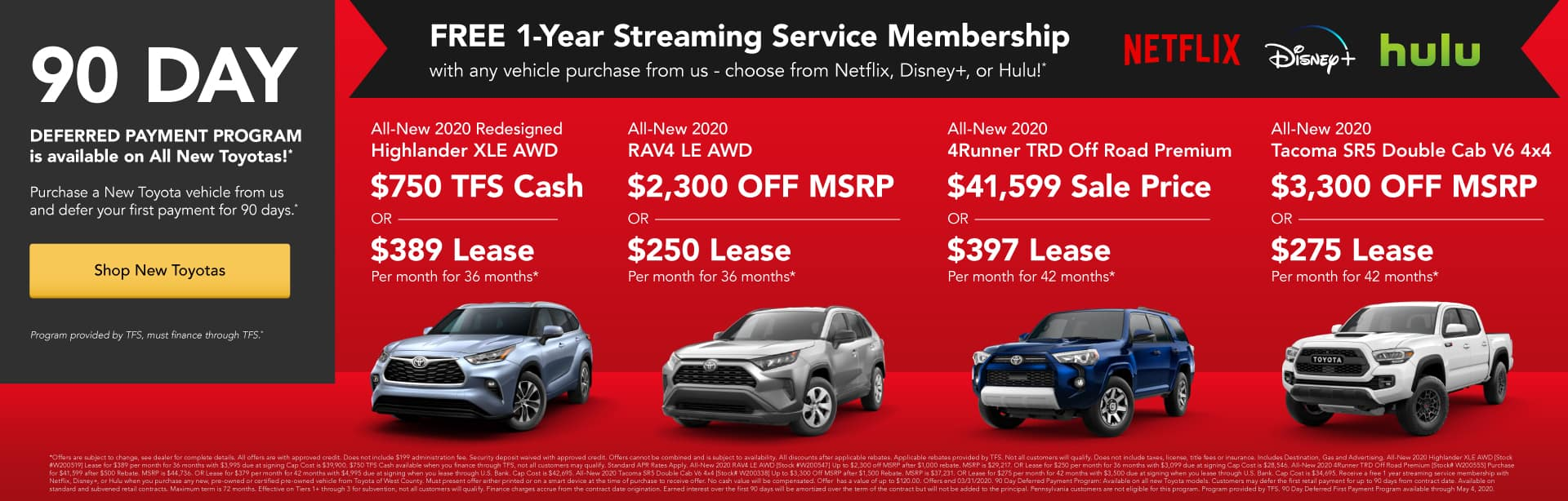 Free 1-Year Streaming Service Membership with any vehicle purchase from us!