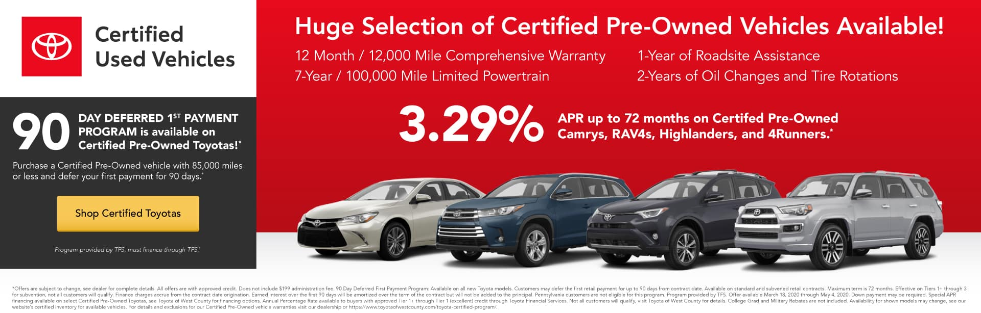 Huge Selection of Certified Pre-Owned Vehicles Available