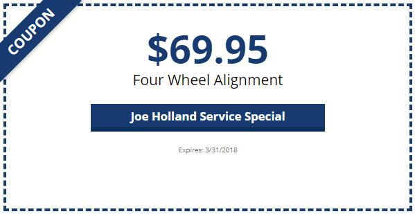 Service Amp Parts Specials Joe Holland Chevrolet Hyundai