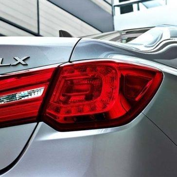 2017 Acura RLX tail light up close