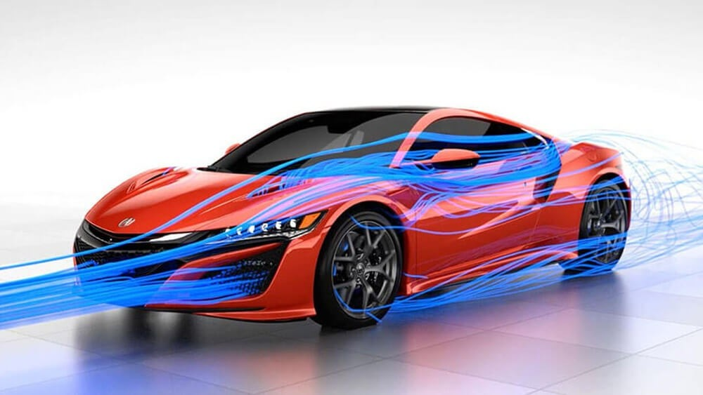 2017 Acura NSX red exterior model