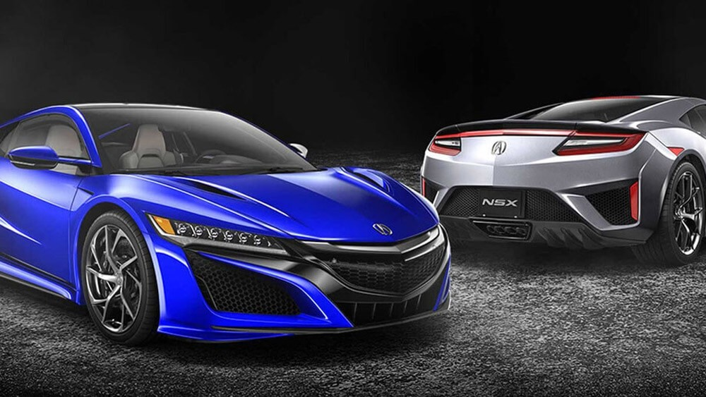 2017 Acura NSX blue exterior model