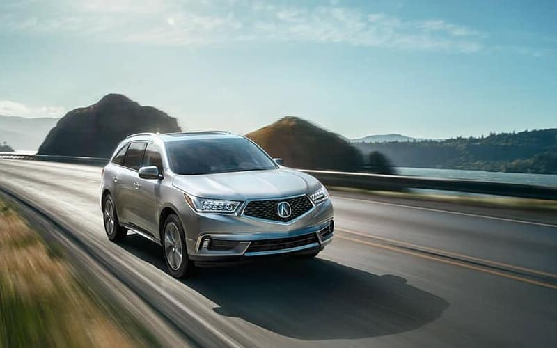 2018 Acura MDX on the road