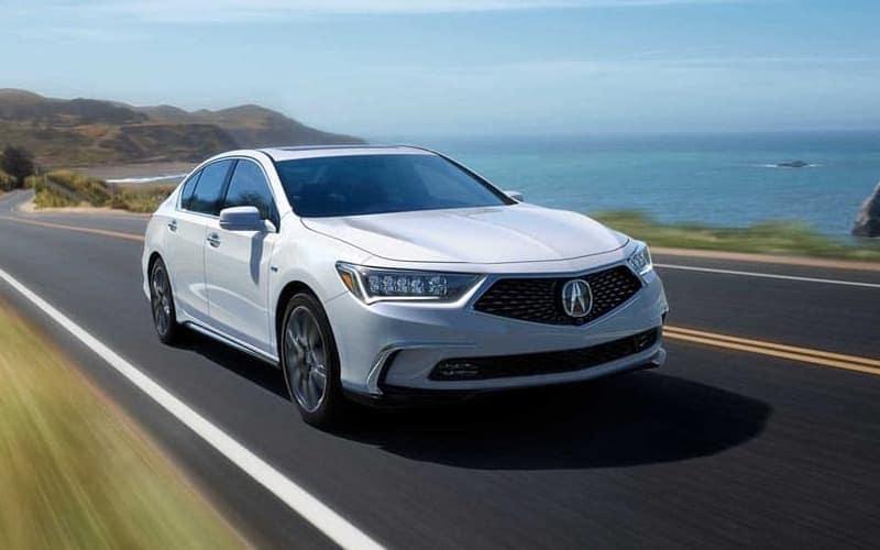 2018 Acura RLX white exterior model