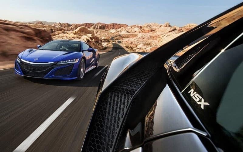 Acura NSX on the road