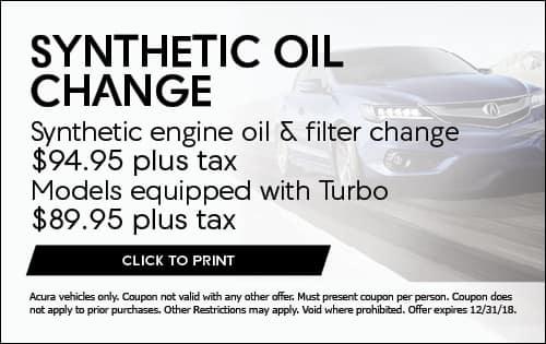 Auto Service Specials Kearny Mesa Acura Near San Diego - Acura coupons oil change