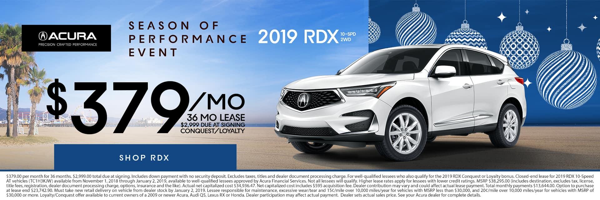 2019 RDX Season of Performance