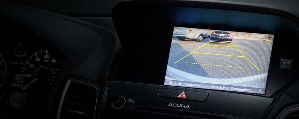2018 Acura Dashboard with Advanced Rearview Camera