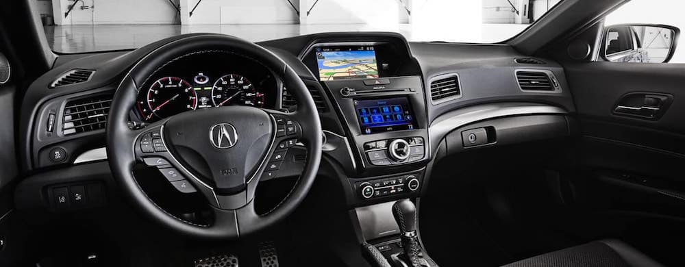 2018 Acura ILX black interior dashboard