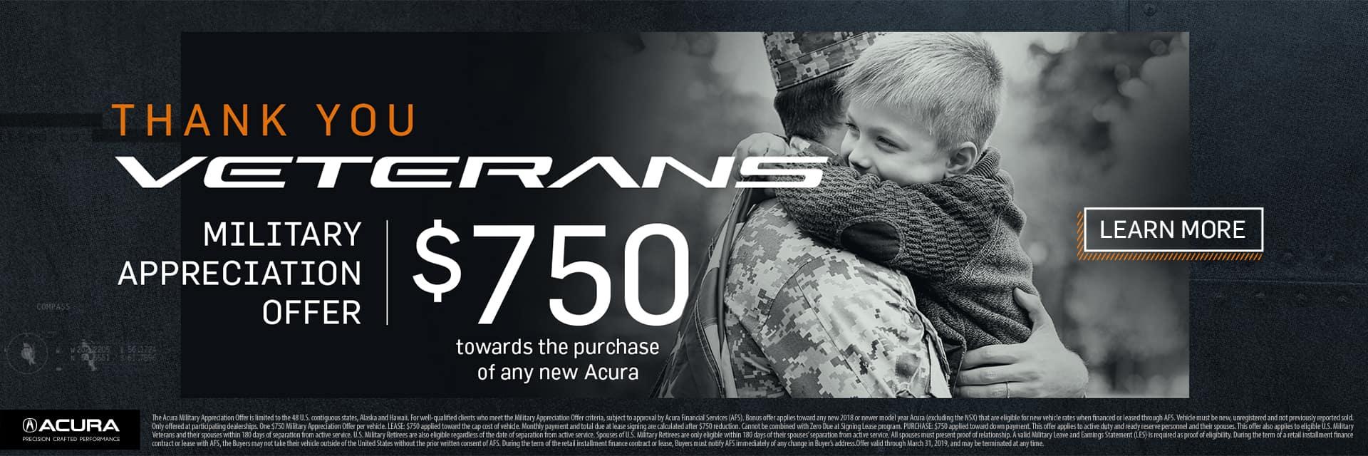 acura veterans Day offer