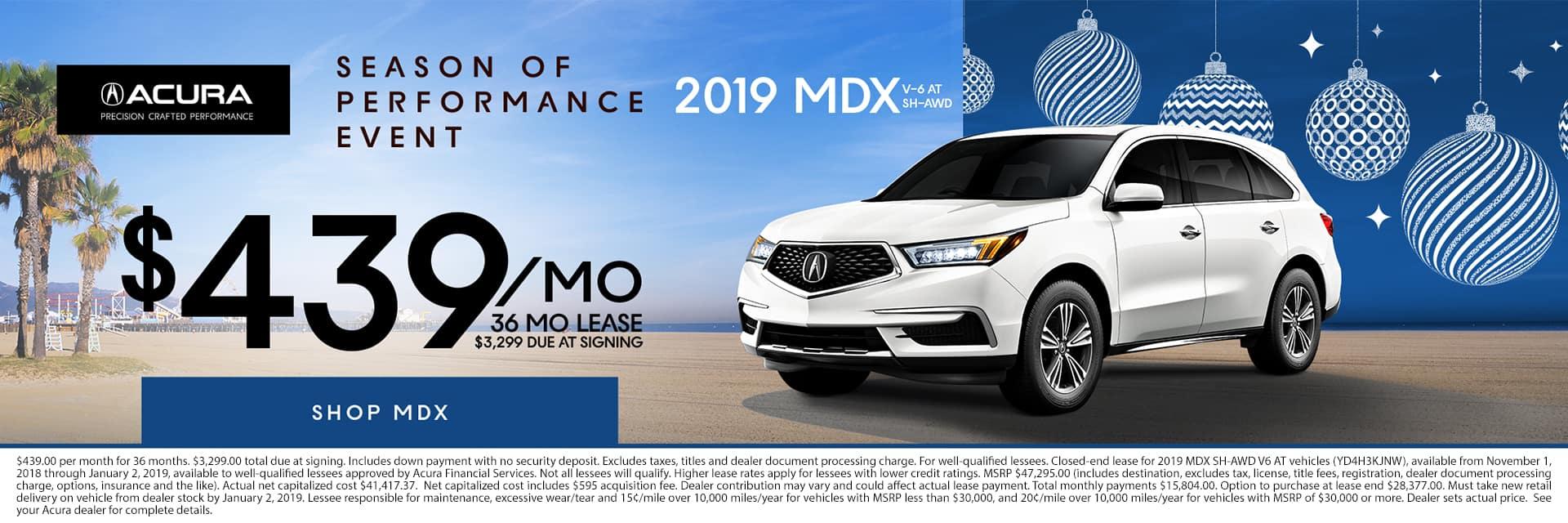 2019 MDX Season of Performance