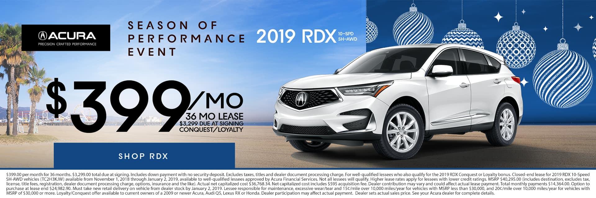 2019 RDX AWD Season of Performance