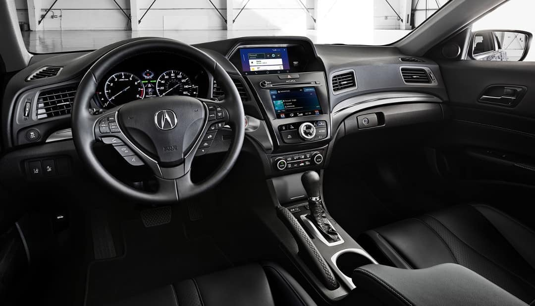 2019 Acura ILX in ebony interior