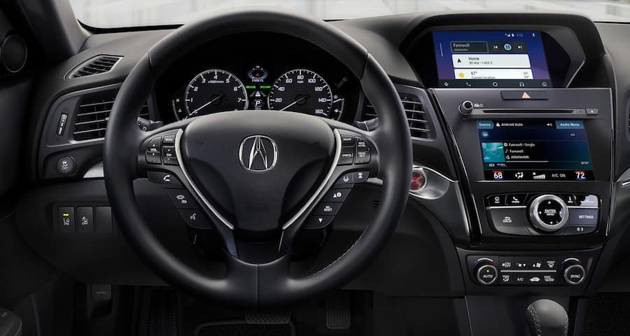 Acura ILX dashboard and steering wheel