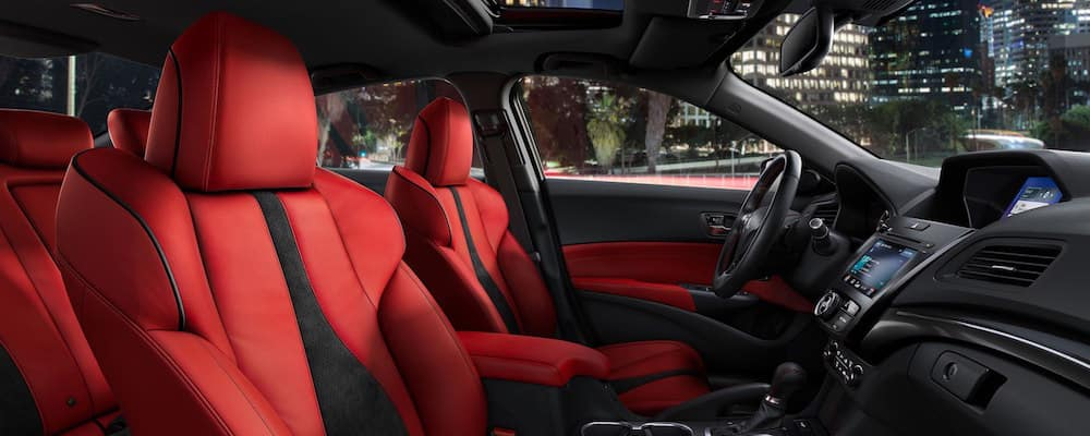 Acura ILX interior with red seats